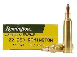 Remington 22-250REM, PSP, 55GR Standard