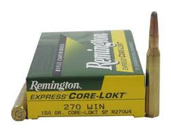 Remington 270WIN, SP, 150GR Core-Lokt