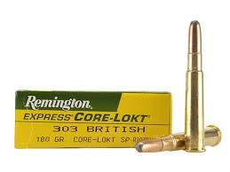 Remington 303BRIT, SP, 180GR Core-Lokt
