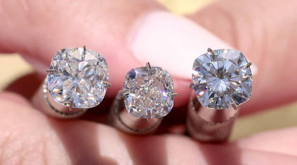 Cushion Moissanite vs Diamond Comparison