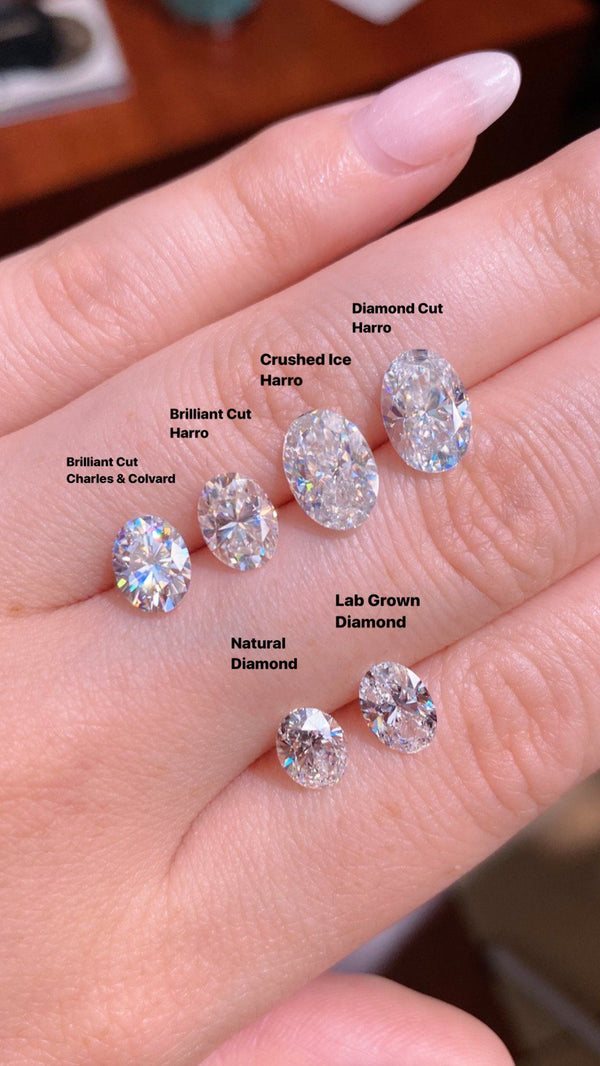 Oval Moissanite Brands versus Lab and Natural Diamonds