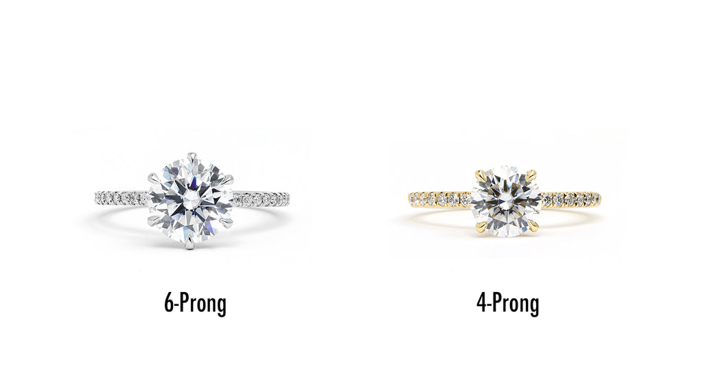 4-Prong vs 6-Prong Engagement Ring