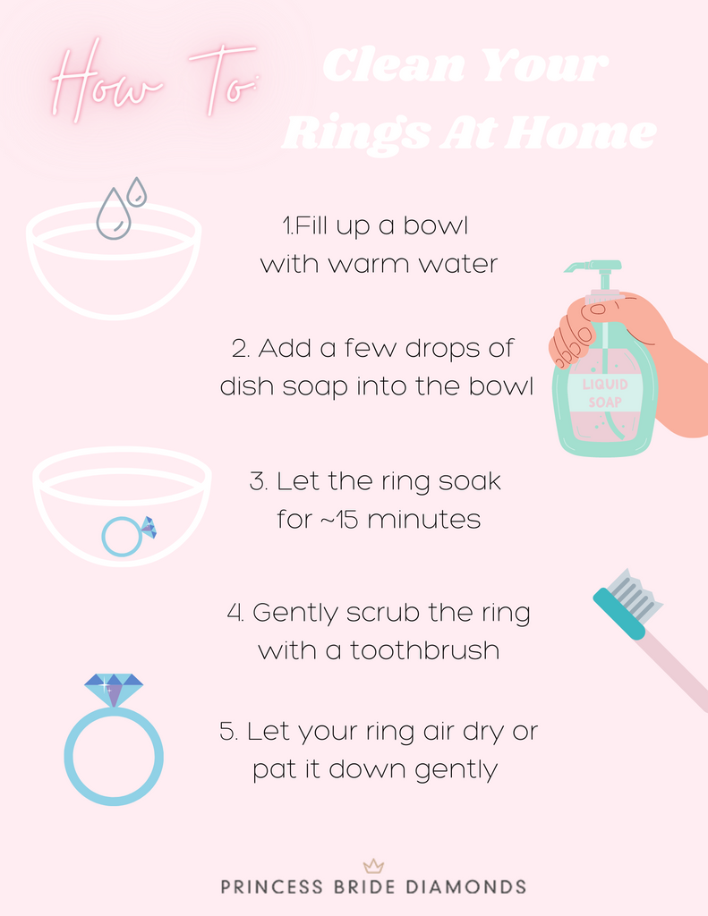 How To Clean Your Rings At Home - Princess Bride Diamonds