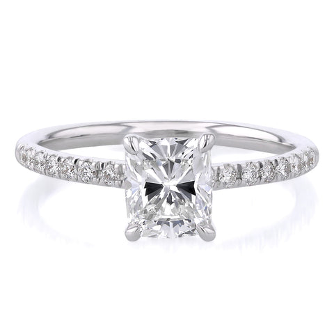Elongated Cushion Engagement Ring