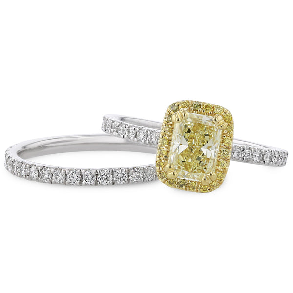 Yellow Diamond Custom Design Engagement Ring