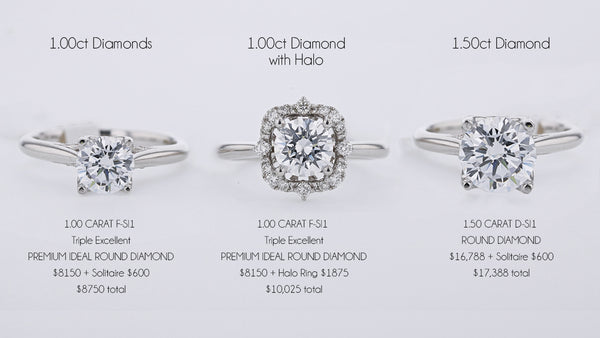 Halo versus non Halo engagement rings