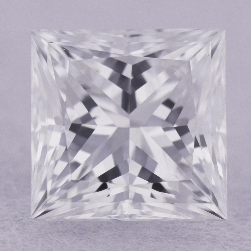 0.46 Carat E-VVS2 Princess Cut Natural Diamond - GIA Loose Diamond Princess Bride Diamonds