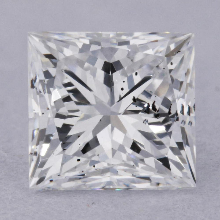 0.59 Carat D-SI2 Princess Cut Natural Diamond - GIA Loose Diamond Princess Bride Diamonds