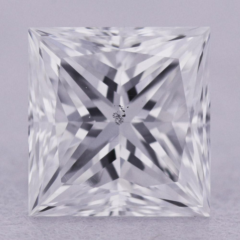 0.61 Carat D-SI2 Princess Cut Natural Diamond - GIA Loose Diamond Princess Bride Diamonds