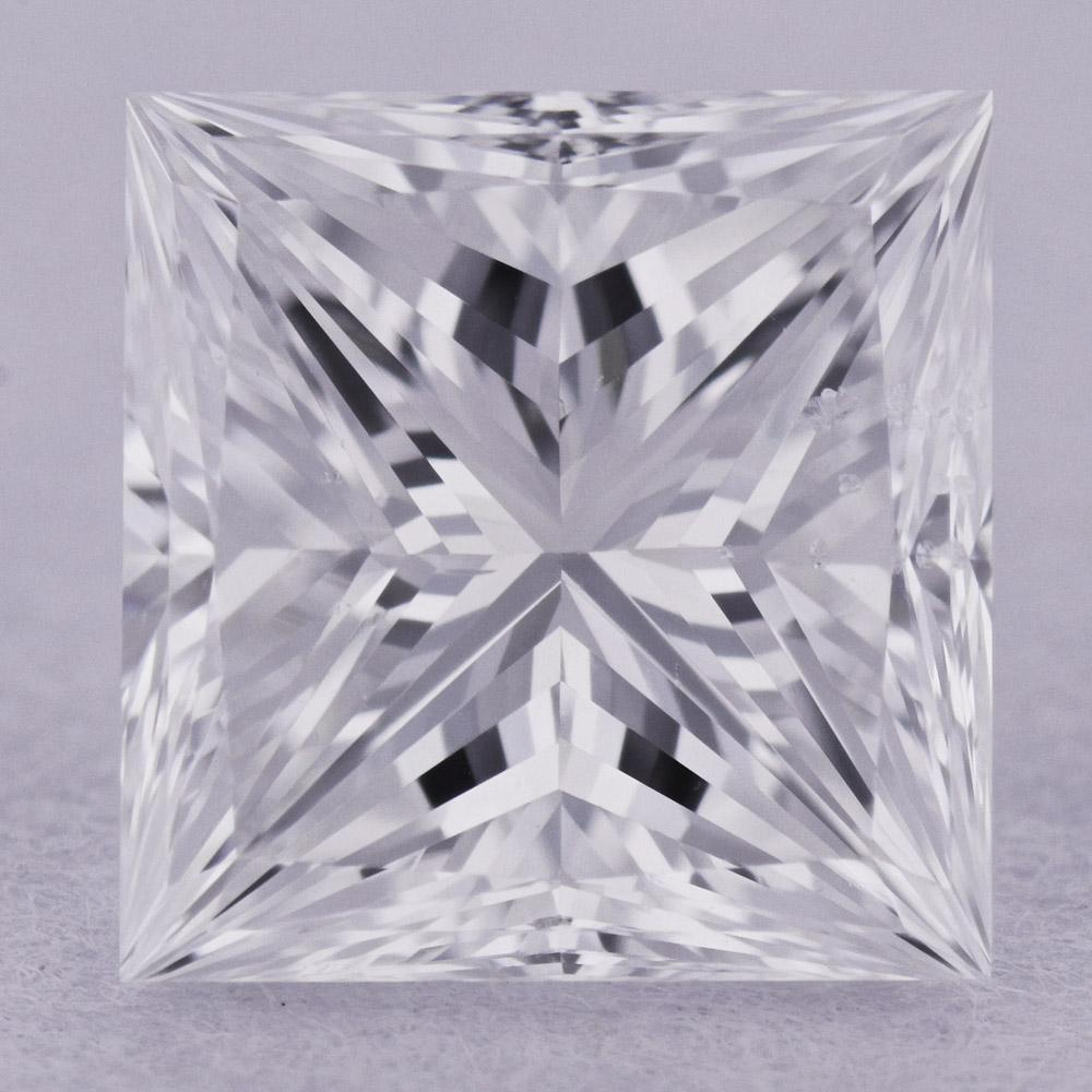 0.90 Carat E-SI1 Princess Cut Natural Diamond - GIA Loose Diamond Princess Bride Diamonds