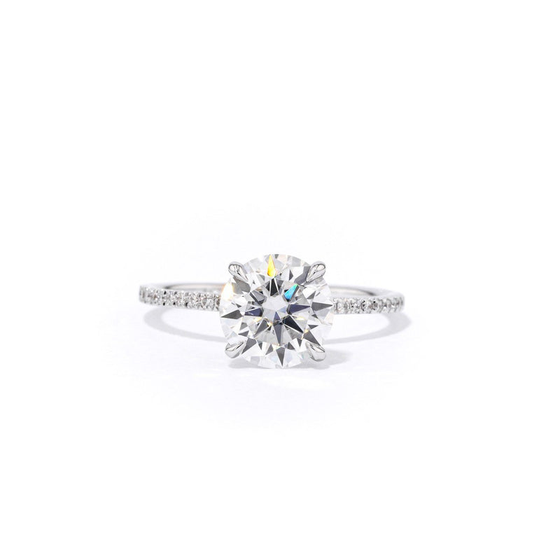 1.3mm Juliette Round Engagement Rings Princess Bride Diamonds