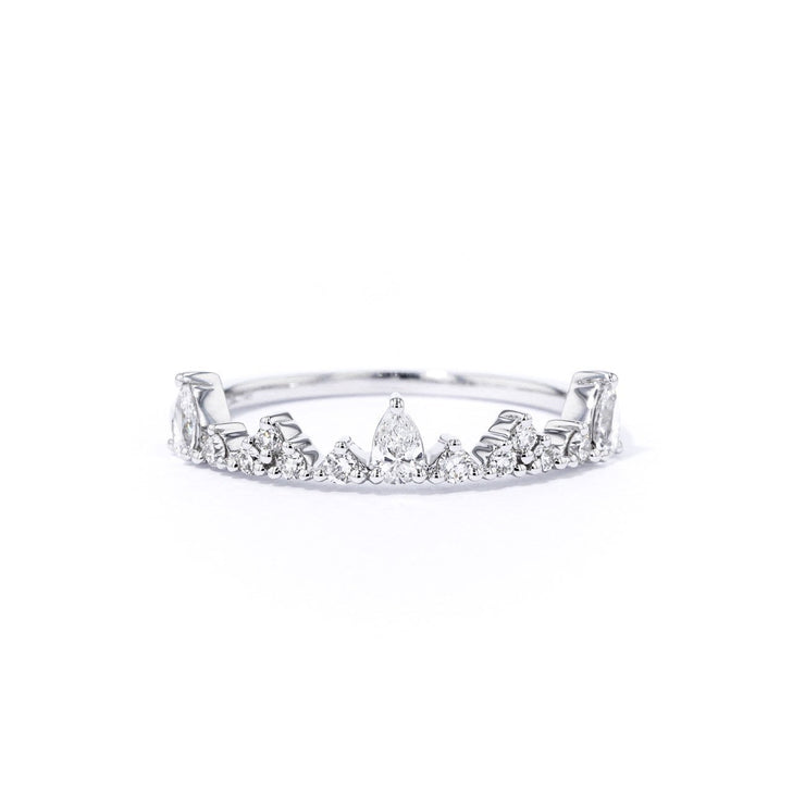 1.3mm Tiara Diamond Ring Ring Princess Bride Diamonds