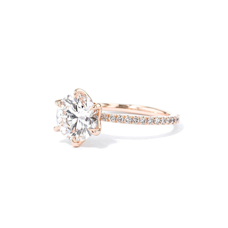 1.4mm Caraline Round Engagement Rings Princess Bride Diamonds