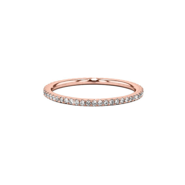 1.4mm Pavé Diamond Ring Ring Princess Bride Diamonds 3 14K Rose Gold