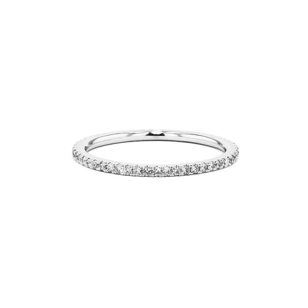 1.4mm Pavé Diamond Ring Ring Princess Bride Diamonds 3 14K White Gold
