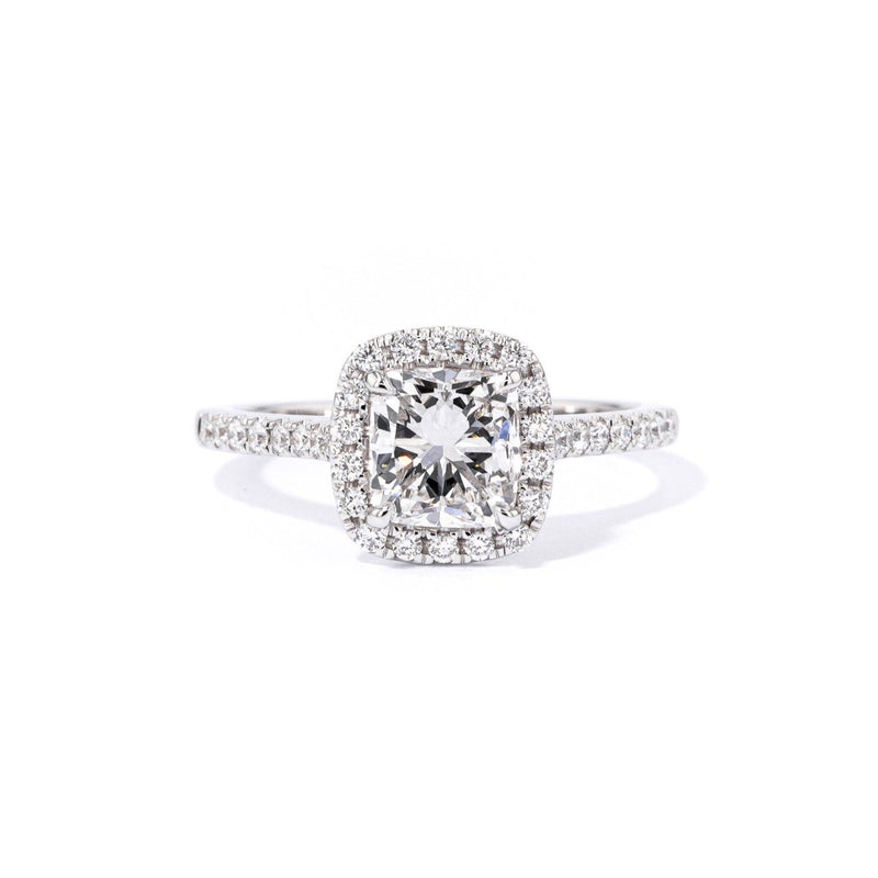 1.6mm Amara Cushion Engagement Rings Princess Bride Diamonds