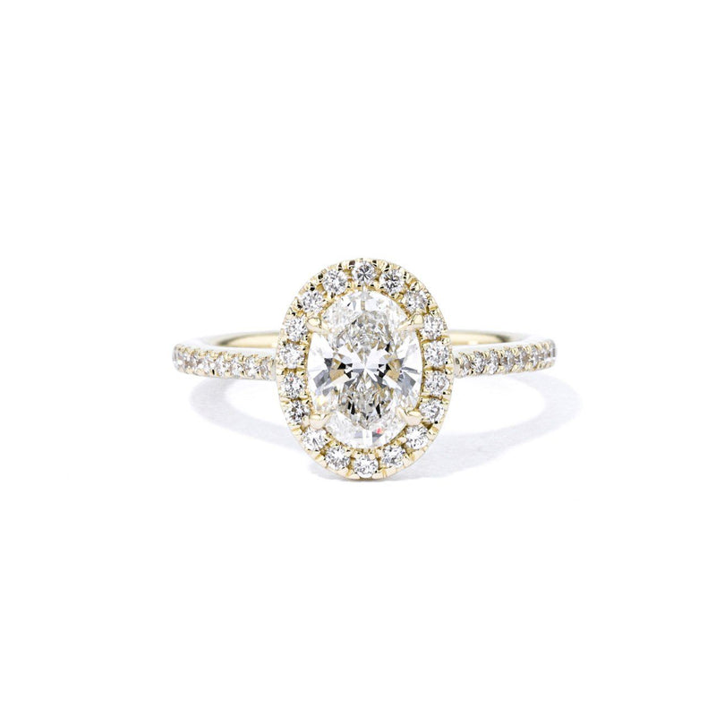 1.6mm Lynn Oval Engagement Rings Princess Bride Diamonds 3 14K Yellow Gold