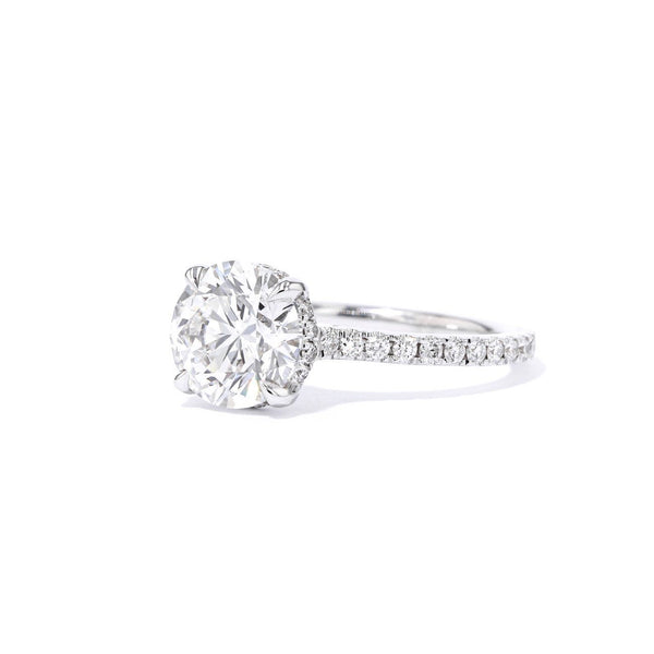 1.6mm Michelle Round Engagement Rings Princess Bride Diamonds