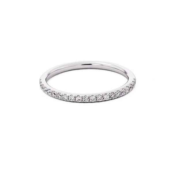 1.6mm Pavé Diamond Ring Ring Princess Bride Diamonds 3 14K White Gold