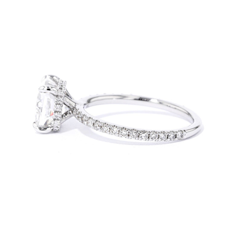 1.6mm Stephanie Cushion Engagement Rings Princess Bride Diamonds