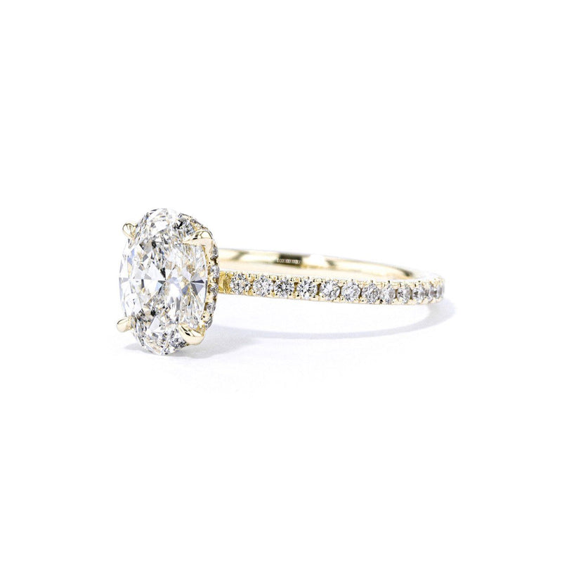 1.6mm Stephanie Oval Engagement Rings Princess Bride Diamonds