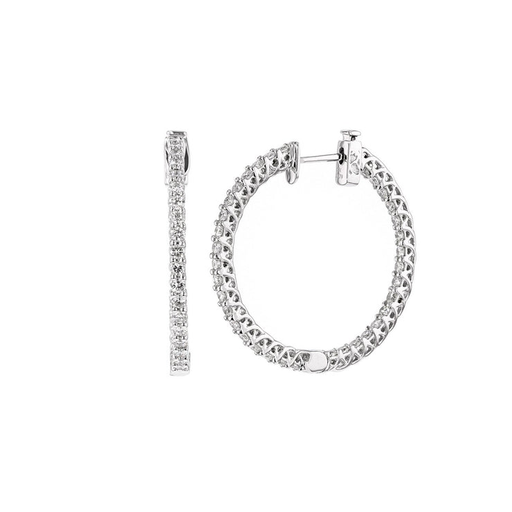 1.79ct Inside Outside Hinge Hoops Fine Jewelry Earrings Princess Bride Diamonds