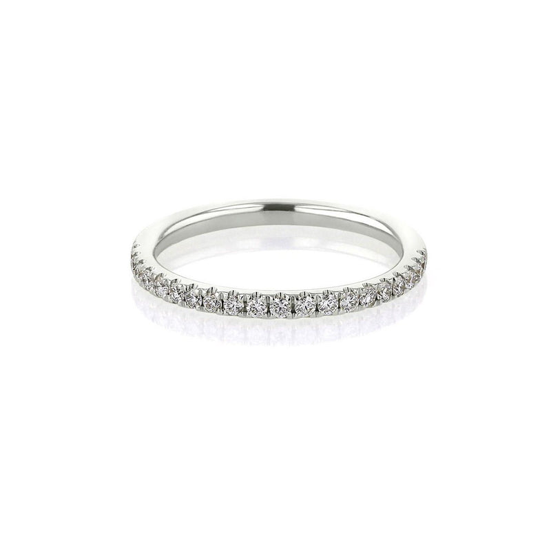 1.8mm Pavé Diamond Ring Ring Princess Bride Diamonds 3 14K White Gold