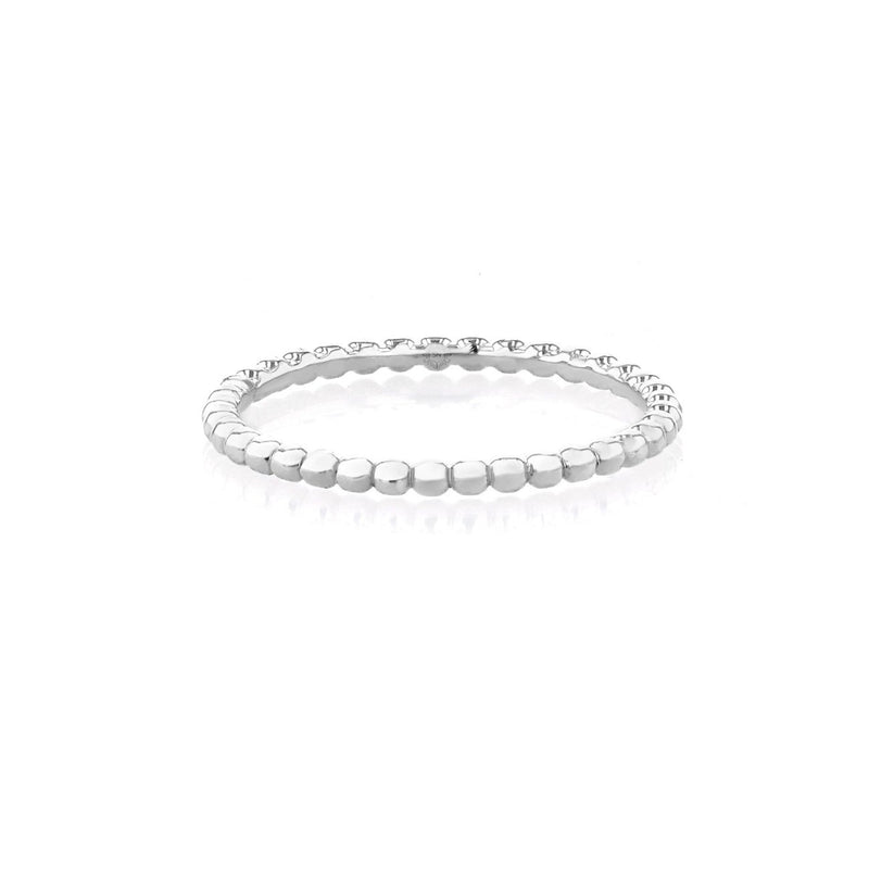 1mm Anabelle Bead Stackable Ring Ring Sarah Nicole 3 14K White Gold