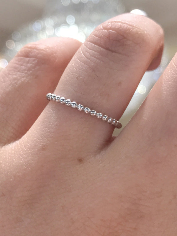1mm Anabelle Bead Stackable Ring Ring Sarah Nicole