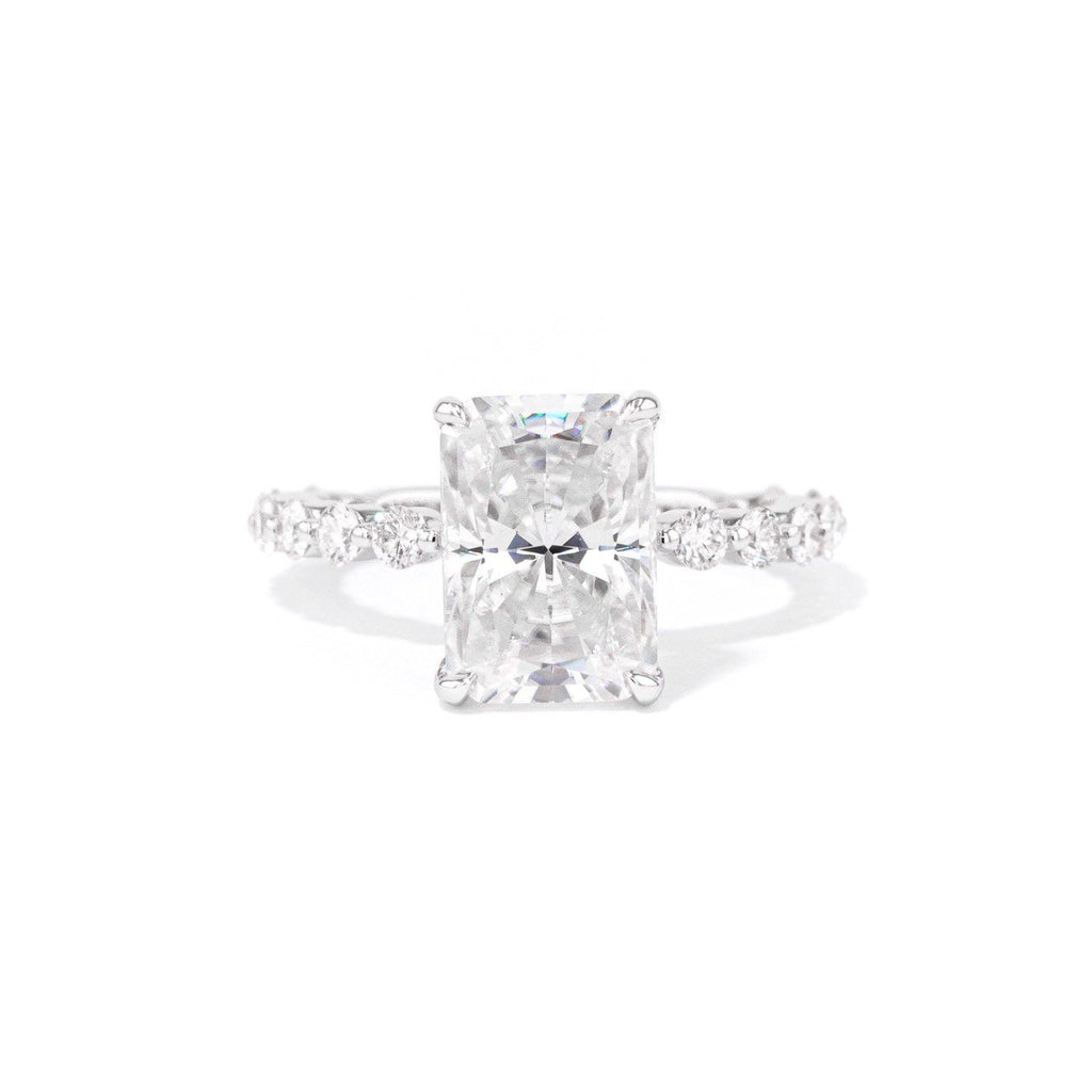 2.0mm Marbee Radiant Engagement Rings Princess Bride Diamonds