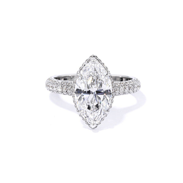 2.4mm Courtney Marquise Engagement Rings Princess Bride Diamonds