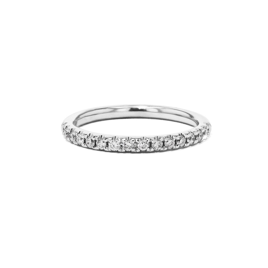 2mm Pavé Diamond Ring Ring Princess Bride Diamonds 3 14K White Gold