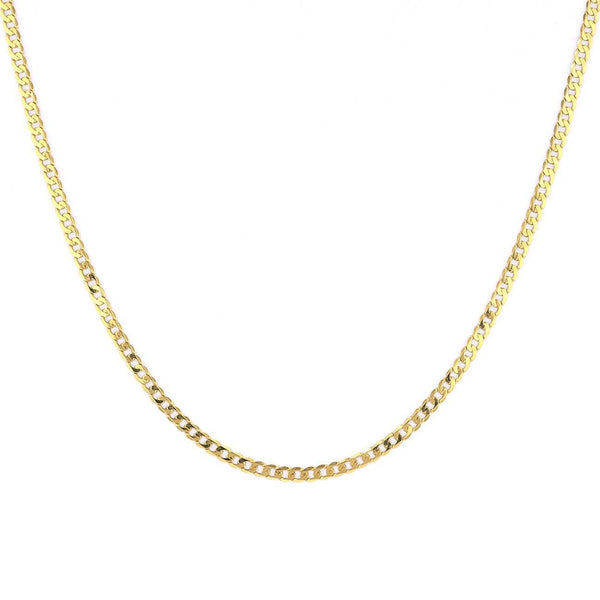 3.0mm Curb Chain Necklaces Princess Bride Diamonds