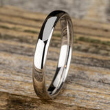 3.5mm Euro Comfort Fit Band Ring Princess Bride Diamonds 6 14K White Gold