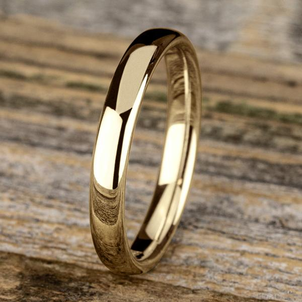 3.5mm Euro Comfort Fit Band Ring Princess Bride Diamonds 6 14K Yellow Gold