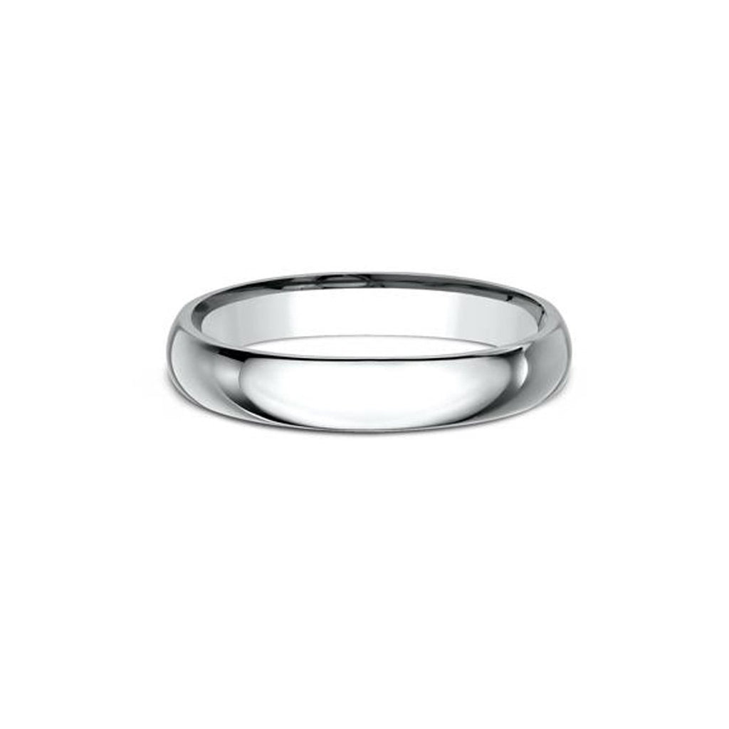 3mm Comfort Fit White Gold Ring Ring Princess Bride Diamonds