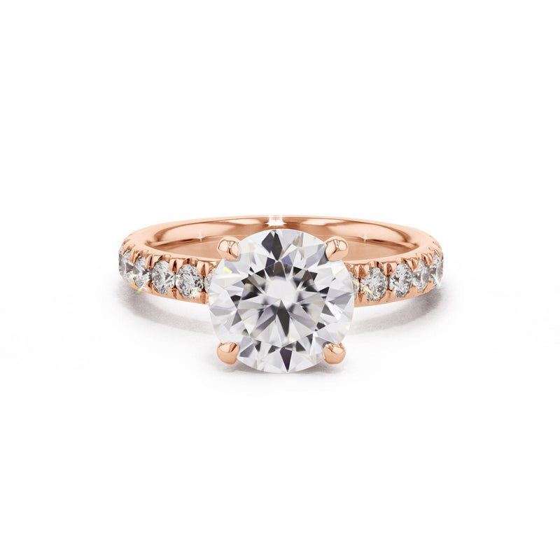 3mm Stephanie Engagement Rings Princess Bride Diamonds 3 14K Rose Gold