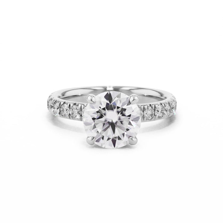 3mm Stephanie Engagement Rings Princess Bride Diamonds 3 14K White Gold