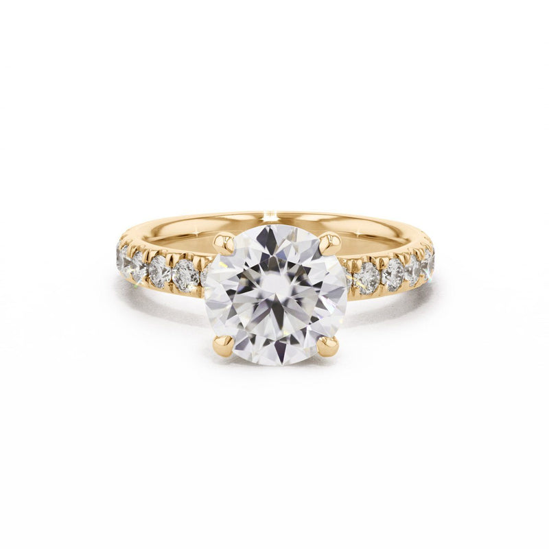 3mm Stephanie Engagement Rings Princess Bride Diamonds 3 14K Yellow Gold
