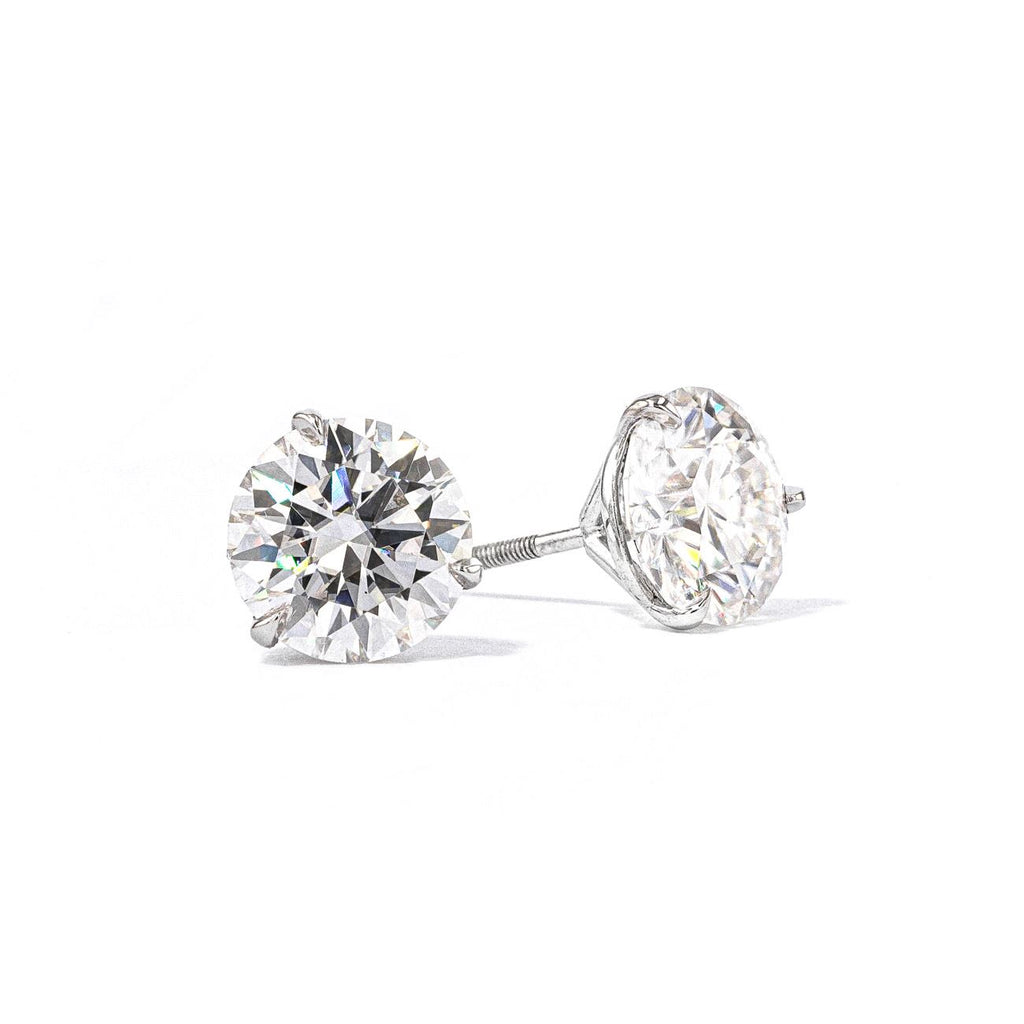 7.5mm Round Moissanite Stud Earrings Fine Jewelry Earrings Princess Bride Diamonds