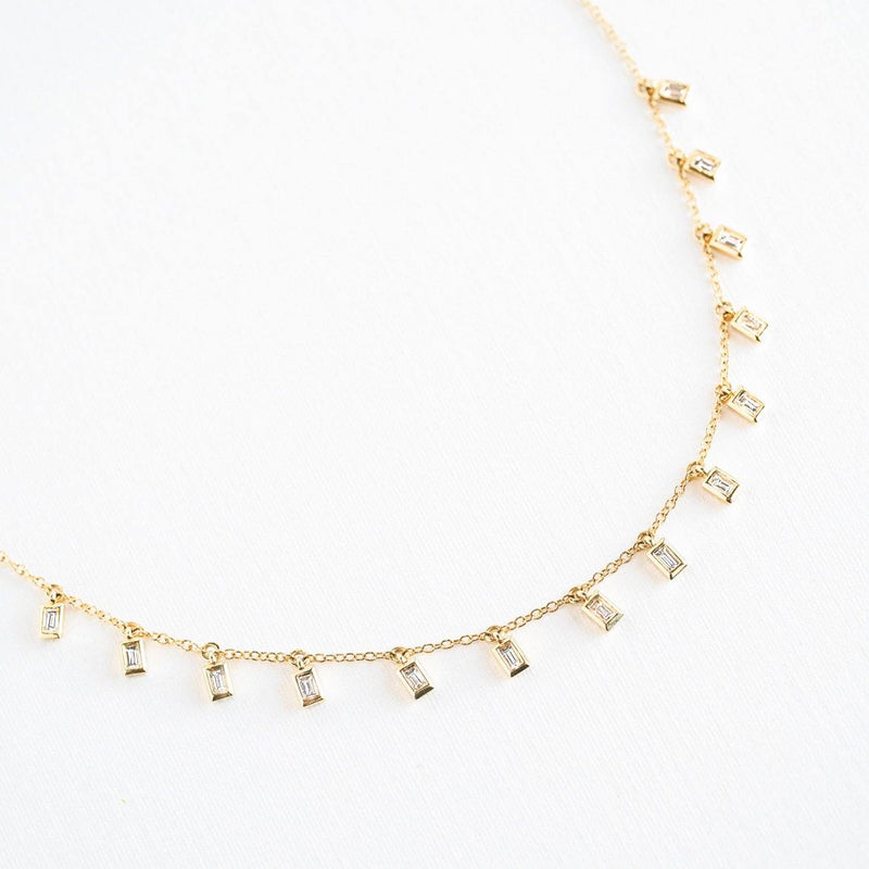 Baguette Diamond Drip Necklace Necklaces Princess Bride Diamonds