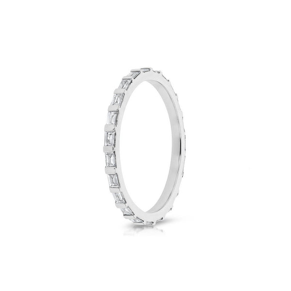 Baguette Eternity Diamond Ring Ring Princess Bride Diamonds