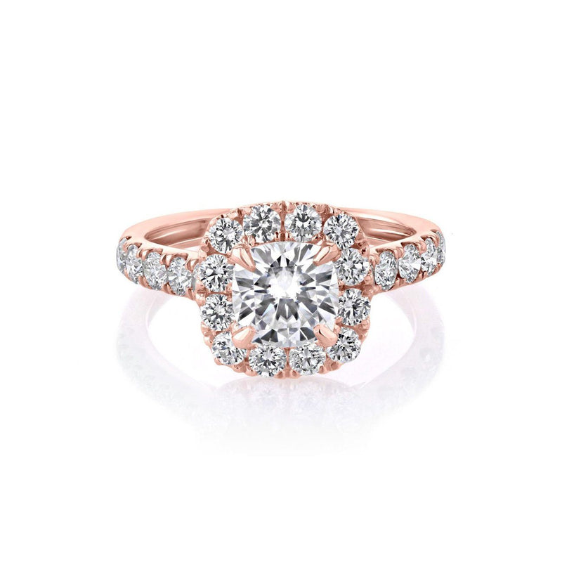 Bella Cushion Engagement Rings Sarah Nicole 3 18K Rose Gold