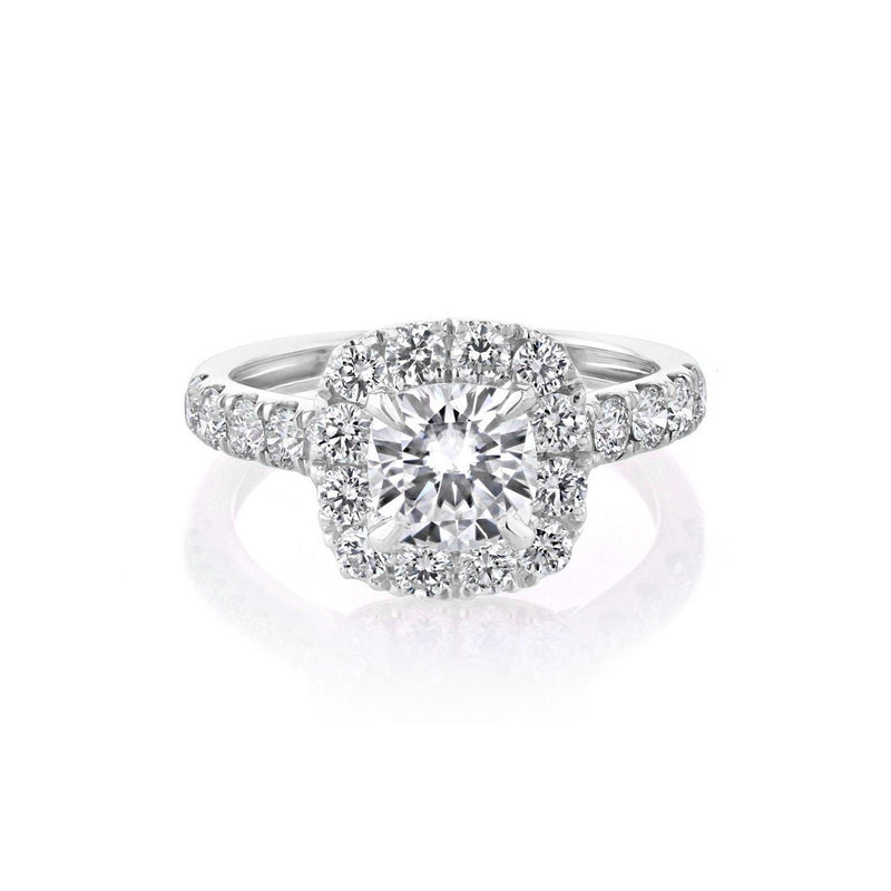 Bella Cushion Engagement Rings Sarah Nicole 3 18K White Gold