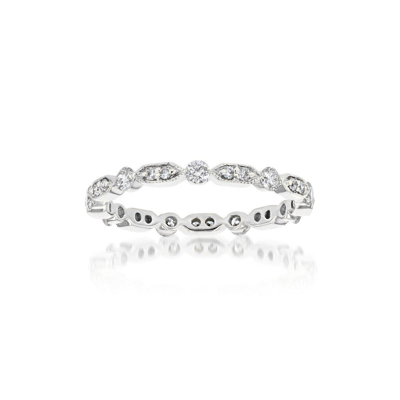 Belle Eternity Diamond Stackable Ring Ring Princess Bride Diamonds 3 14K White Gold