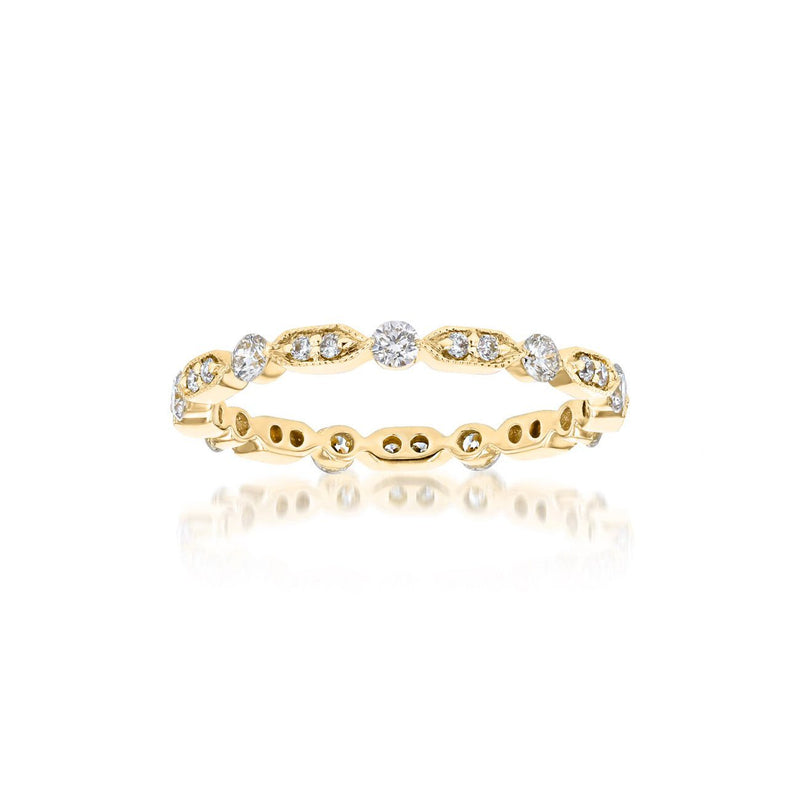 Belle Eternity Diamond Stackable Ring Ring Princess Bride Diamonds 3 14K Yellow Gold