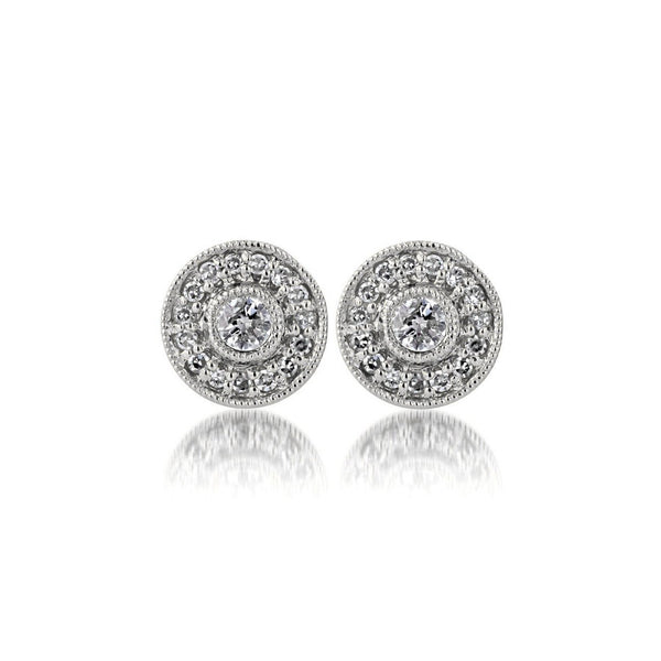 Belle Stud Earrings Fine Jewelry Earrings Sarah Nicole 14K White Gold