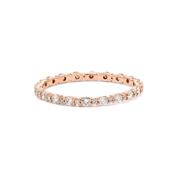 Big and Small Diamond Shared Prong Ring Ring Princess Bride Diamonds 3 18K Rose Gold