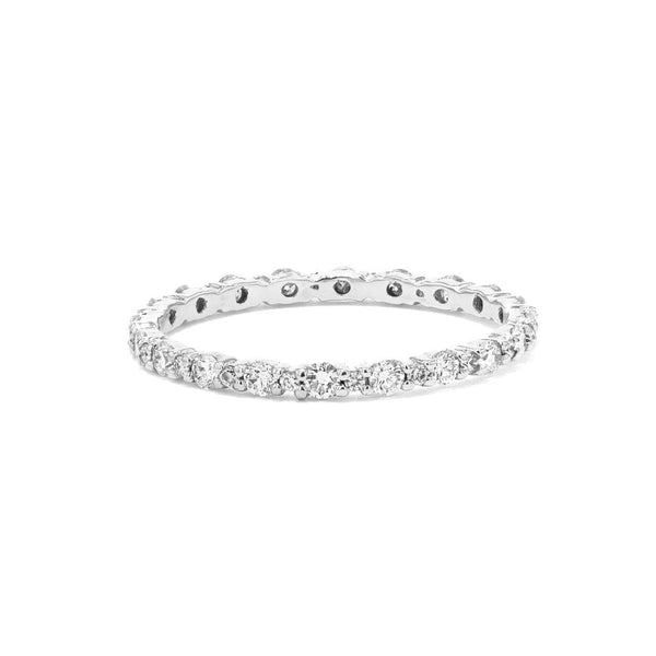 Big and Small Diamond Shared Prong Ring Ring Princess Bride Diamonds 3 18K White Gold