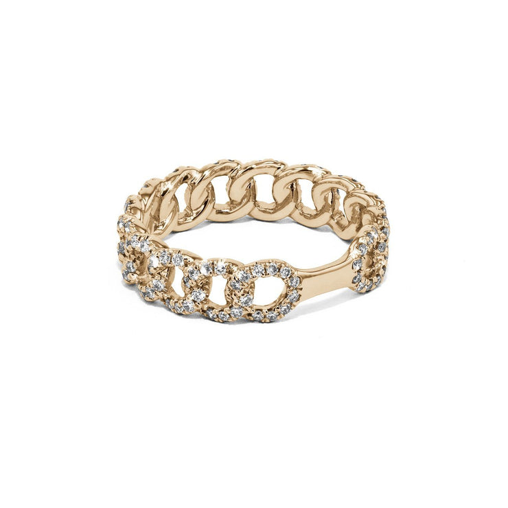 Chain Link Diamond Ring Ring Princess Bride Diamonds
